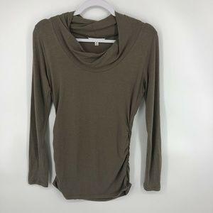 Cabi Long Sleeved Mock Neck Womans Shirt Size M